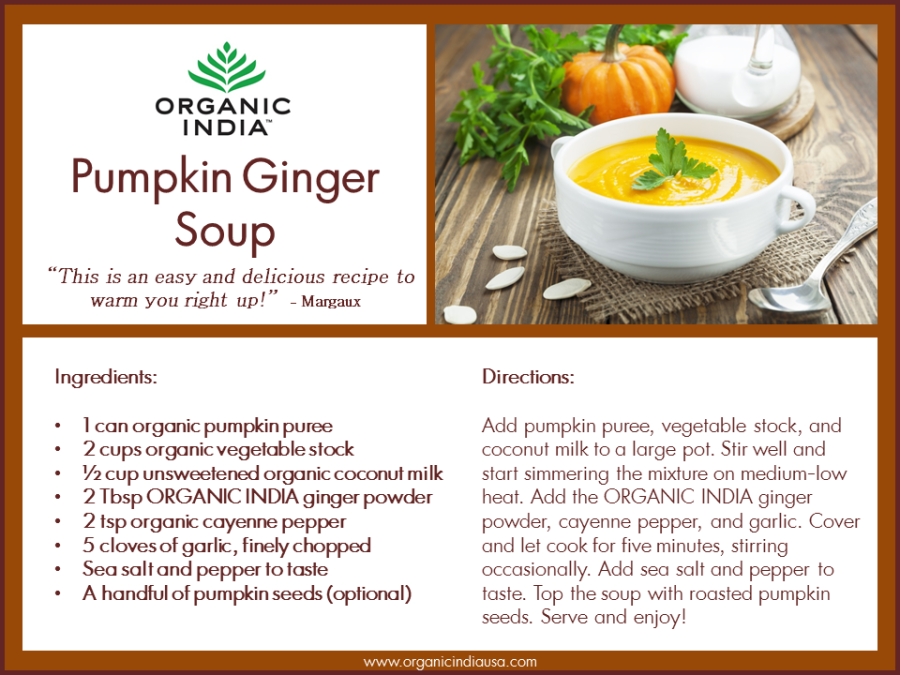 Ginger Pumpkin Soup Recipe